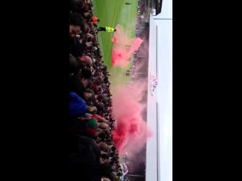 Liverpool away fans at Fulham 2013