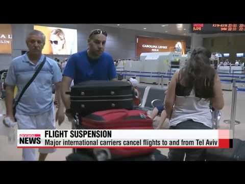 Major U.S, European carriers suspend flights to Israel after rocket fire