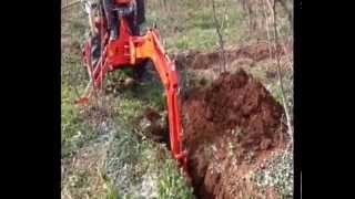 kuzeytek video mix kubota kioti front loader backhoe snow blade rotary mower