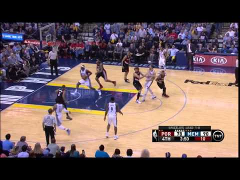 NBA, playoff 2015, Trail Blazers vs. Grizzlies, Round 1, Game 2, Move 51, Marc Gasol, assist