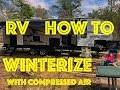 How to Winterize Your RV Travel Trailer with Compressed Air - Forest River ALPHA WOLF 26dbh