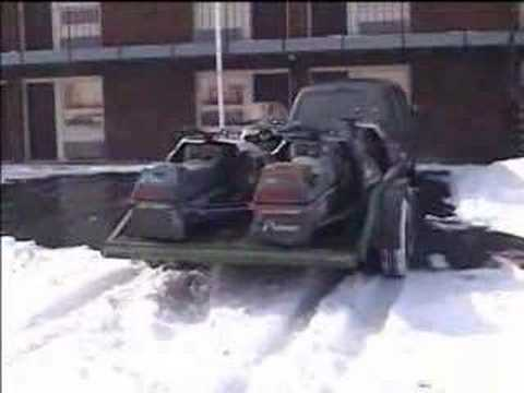 Just showing the Polaris snowmobiles on the trailer