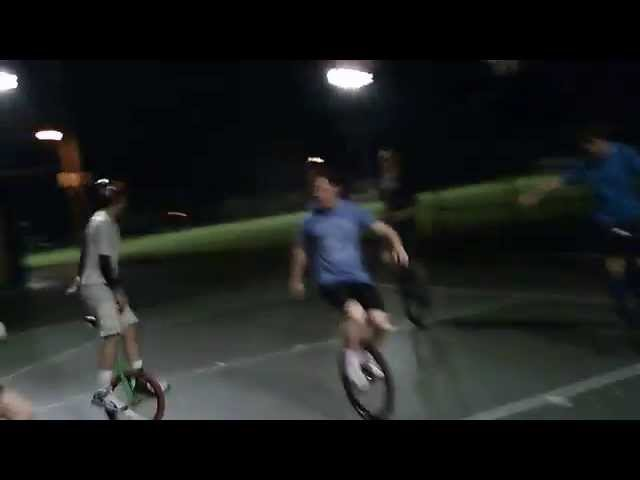 Unicycle Basketball POV
