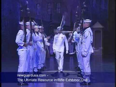 US Navy Silent Drill Team.wmv