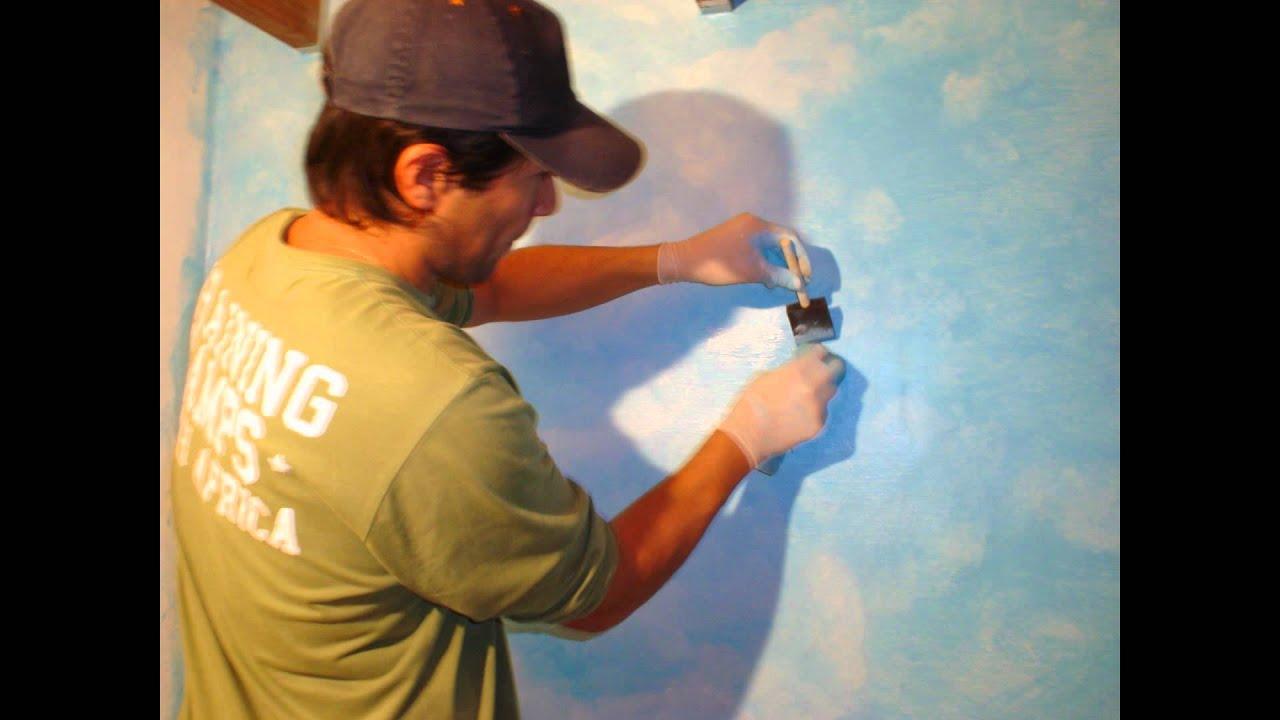 Un cielo en tu habitacion youtube for Como pintar un mural infantil