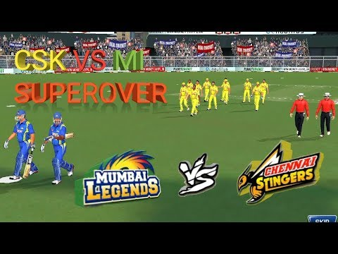 CSK VS MI SUPER OVER REAL CRICKET 18 FAST GAMEPLAY || TECH WIDFRNDZ