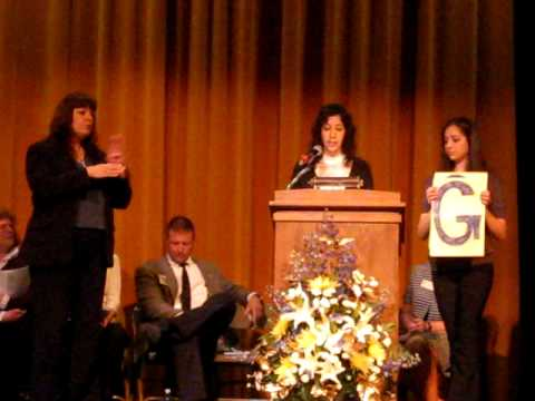 Closing Remarks for SENIOR AWARDS NIGHT 2009 at EAST LEYDEN HIGH SCHOOL, FRANKLIN PARK,  ILLINOIS