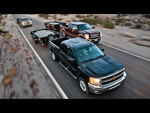 2012 Chevrolet Silverado 2500 vs. 2012 Ford F-250 Super Duty, 2012 Ram 2500 - CAR and DRIVER