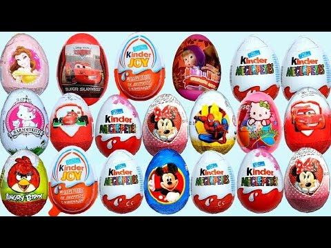 20 Surprise eggs Kinder Surprise Маша и Медведь Disney Angry Birds Hello Kitty