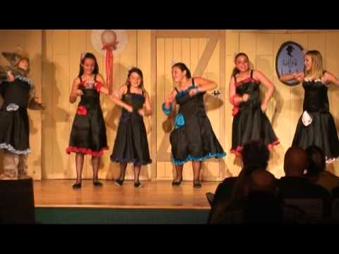 Can-Can Girls of Julian CA perform at the 2010 Julian Annual Melodrama