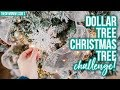 DOLLAR TREE CHRISTMAS TREE DECORATING CHALLENGE!