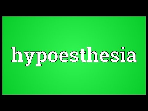 Header of hypoesthesia