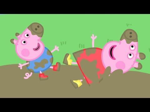 Peppa Pig Świnka Peppa po Polsku najlepsze odcinki - Peppa i  Błotniste Kałuże! - Najlepsze Odcinki