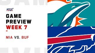 Miami Dolphins vs. Buffalo Bills Week 7 NFL Game Preview
