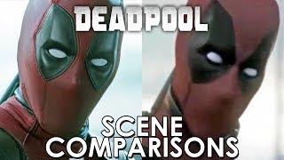 Deadpool (2016) and leaked footage - scene comparisons