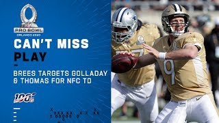 Drew Brees Targets Golladay & Thomas for NFC's 1st TD | NFL 2020 Pro Bowl