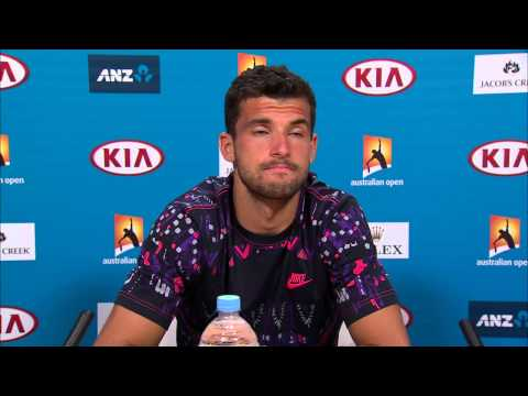 Grigor Dimitrov press conference (3R) - Australian Open 2015