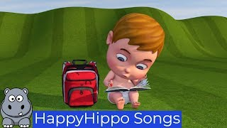 Baby Study and Go to School Childrens Nursery Rhymes & Baby Songs Happy Hippo