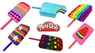 Мороженое Эскимо из Пластилина Плей До. Поделки из Play Doh своими руками. Видео для детей