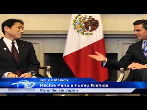 Cd. de México.- Recibe Peña a Fumio Kishida. Canciller de Japón