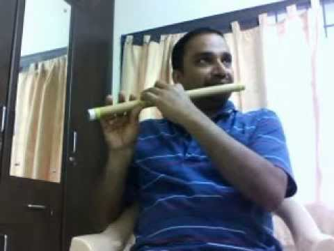 mounamelanoyi Mouna maana neram played using a flute (instrumental...