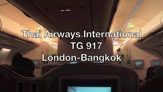 (HD) Thai Airways International Airbus A340 Business Class Flight Report: TG 917 London to Bangkok