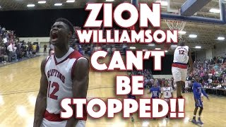 Zion Williamson Can't Be Stopped in the State Playoffs | Trinity-Byrnes vs. Spartanburg Day