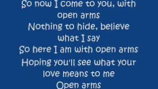 JOURNEY OPEN ARMS LYRICS.wmv
