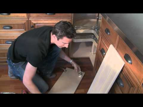 How To Install Bi Fold Lazy Susan Cabinet Doors How To