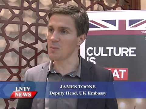 Lao NEWS on LNTV: London's Globe Theatre gives performs Hamlet to a Lao audience.17/7/2015