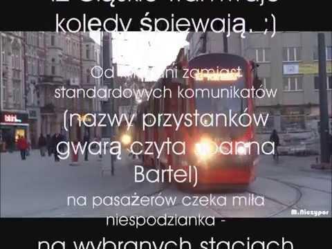Śląskie Tramwaje śpiewaja Kolędy 2014
