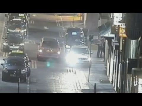 Drive-by shooting on Newcastle casino captured on CCTV