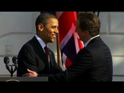 Obama & Cameron Joke About Burning White House