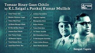 Rabindra Sangeet | KL Saigal | Pankaj Mullick | Tomar Binay Gaan Chhilo