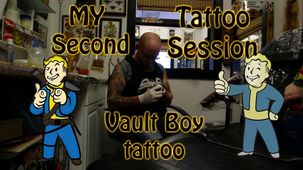 Vault Boy Tattoo Session Vault Boy Tattoo