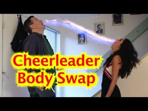 Cheerleader Bodyswap - YouTube