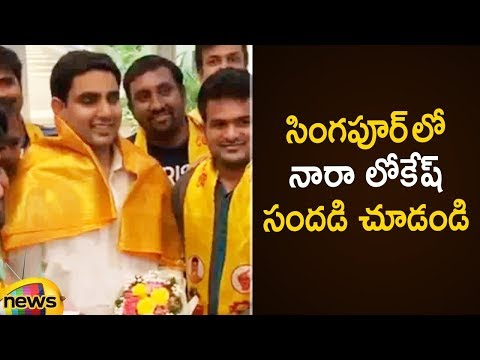 Nara Lokesh Receives Grand Welcome At Singapore | AP IT Minister Nara Lokesh | Mango News