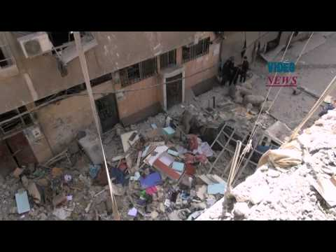 Syrian regime hits Yarmouk refugee camp in Damascus