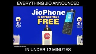 Everything Reliance Jio Announced on JioPhone (in under 12 minutes) | Digit.in