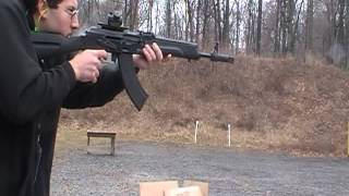 Guntec Saiga bolt on muzzle brake first test
