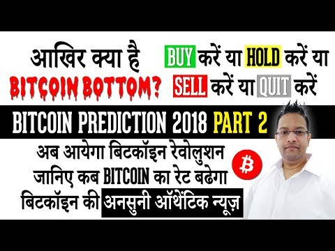 Bitcoin Prediction 2018 - Shall I Buy or Hold or Sell or Quit? Bitcoin RATES will JUMP SOON IN HINDI