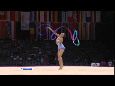 Evgenia Kanaeva-Ribbon Final-WCH Montpellier 2011-NTV