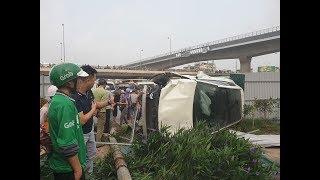 Nữ tài xế lái Mec GLC gây tai nạn liên hoàn tại ngã tư Cầu Mai Dịch, Hà Nội