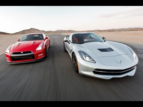 Track Tested: 2014 Chevy Corvette Stingray vs 2014 Nissan GT-R -- Edmunds.com Music Videos