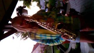 Nika playing the sax