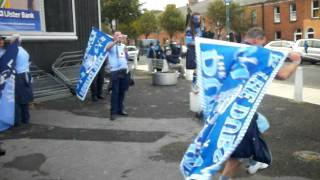 Dublin fans dancing after the All Ireland final, Sept 18 21011.