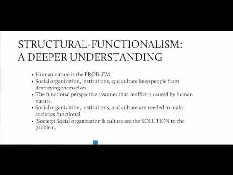 by using structural functionalist theory discuss