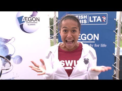 Heather Watson's tour of the Birmingham Aegon Classic