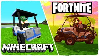 THE NEW FORTNITE: BATTLE ROYALE GOLF CART IN MINECRAFT!