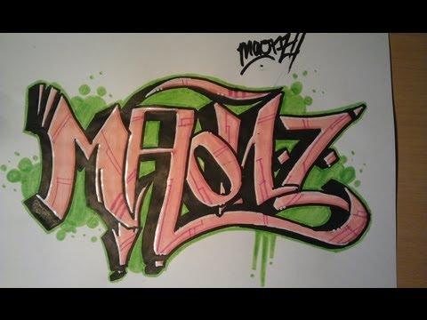 Como hacer graffitis en papel - Imagui